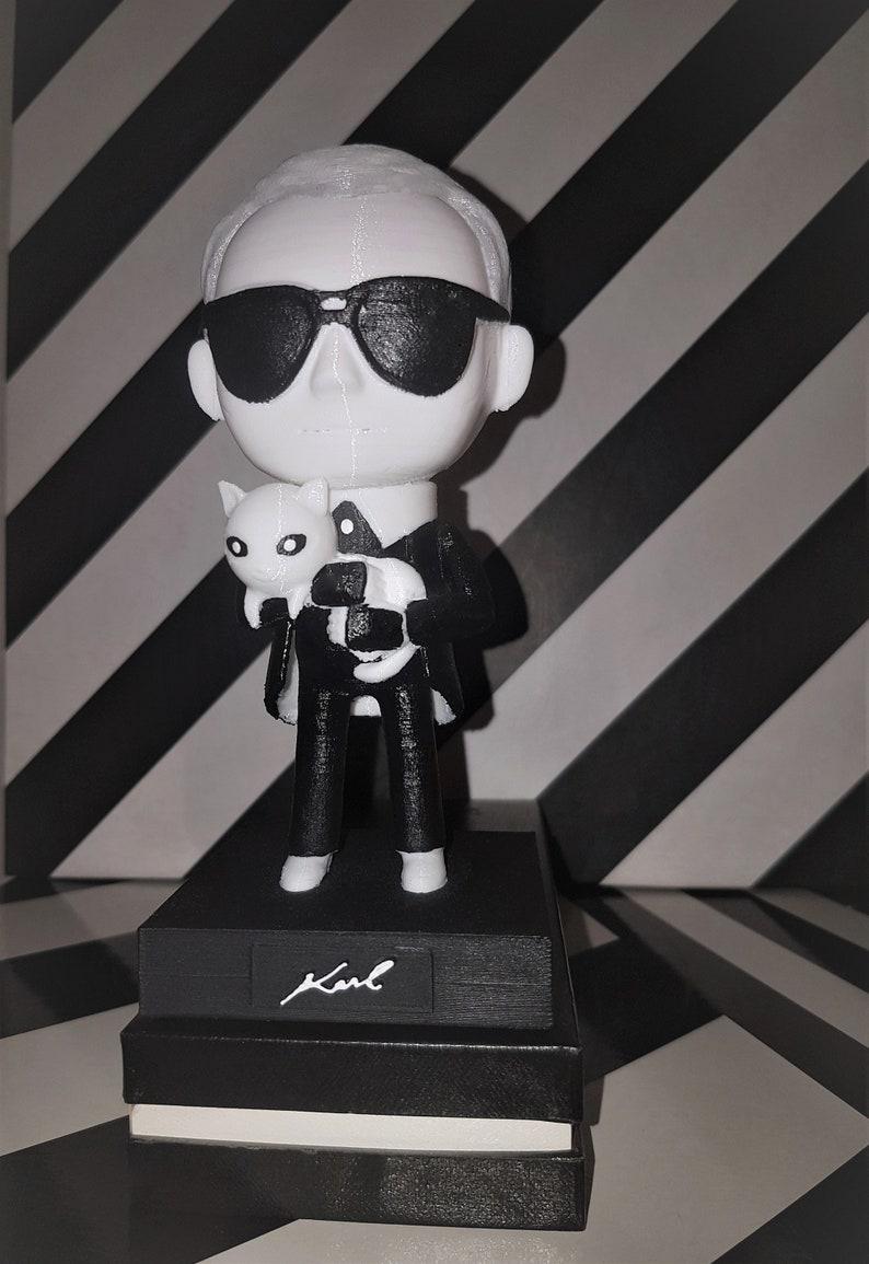 c1ab7437239b Hand Painted Karl Lagerfeld Chanel Designer Art Figure