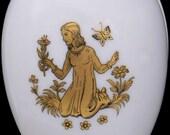 Chamart Limoges Zodiac Virgo France White Porcelain Egg Trinket Box Vintage New