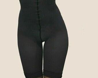 L/'eggs Blue High Waist Capri Body Shaper Shapewear Size AB