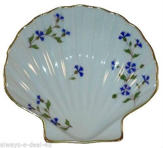 "L//E//C Limoges France Blue Floral Jewelry Trinket Box 4 1//8/"" X 3 1//8/"""