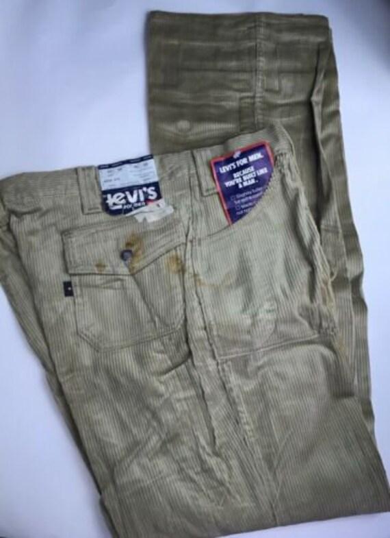 Vintage Khaki Beige Levi's Corduroy Pants/Jeans W4