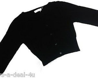 Cotton Candy USA 100% Cotton Black Cardigan Sweater Top Size S