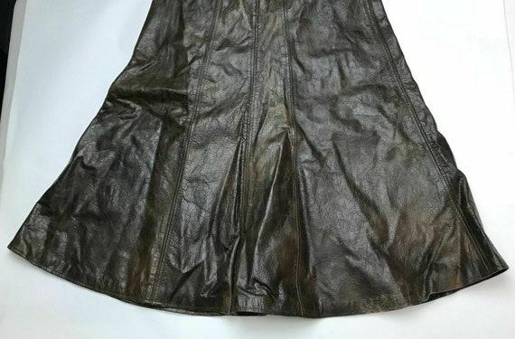 Vintage 70s-80s Brown Genuine Leather Umbrella Sk… - image 2
