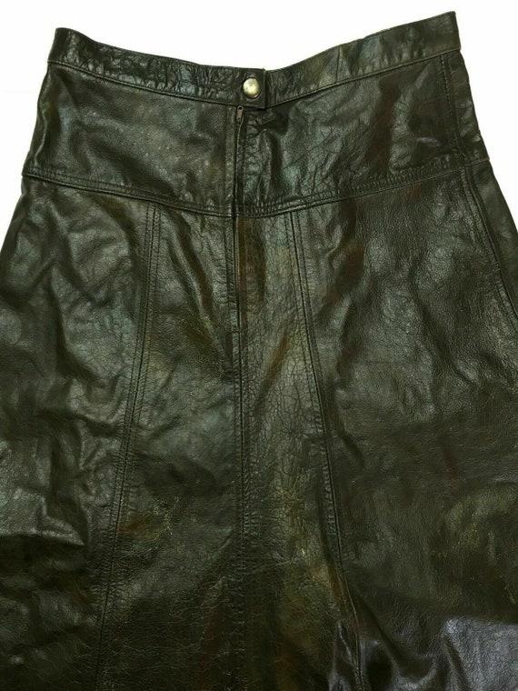 Vintage 70's-80's Brown Genuine Leather Umbrella S