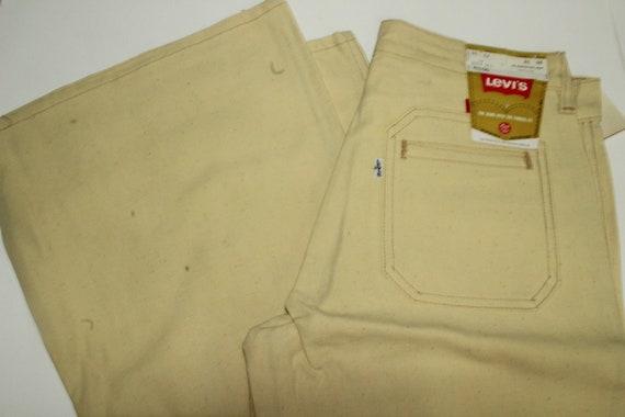 "Vintage Cream/Beige Levis (13"") Bell Bottom Pants/"