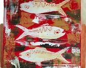 Fiesta de pescado 20x20