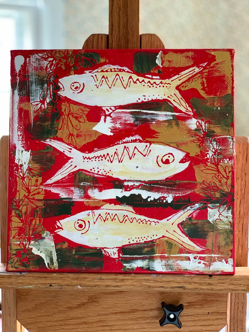 Fiesta de pescado 20x20 image 0