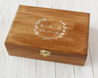 Wooden Memory Box Etsy