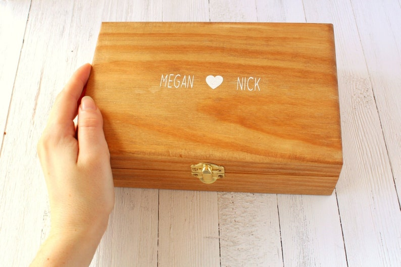 Personalized Jewelry Box Wedding Keepsake Box
