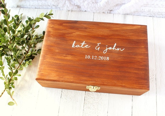 Personalized Wooden Box Wedding Keepsake Box