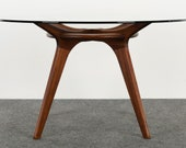Adrian Pearsall for Craft Associates Mid Century Modern MCM Walnut Dining Table, 1960s