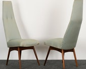 Adrian Pearsall for Craft Associates Pair of Dining Chairs, 1960s Mid Century Modern MCM