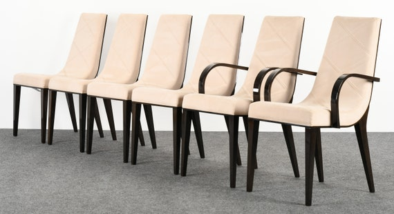 Fine Set Of Six Art Deco Style Dining Chairs By Pietro Costantini 1980S Machost Co Dining Chair Design Ideas Machostcouk