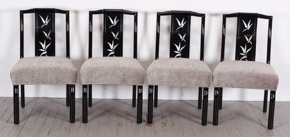 Phenomenal James Mont Set 8 Chairs Asian Modern Mid Century Modern Hollywood Regency 1940S Spiritservingveterans Wood Chair Design Ideas Spiritservingveteransorg