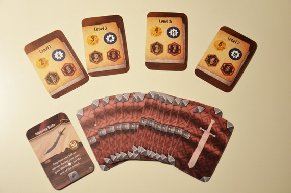 Gloomhaven Solo Cards Scenario Difficulty Cards Board Game Etsy