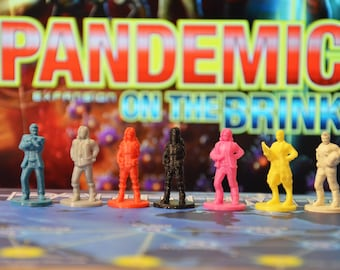 Pandemic  On the Brink expansion meeples miniatures pawns tokens