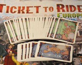 Ticket to Ride Europe 32 new destination tickets fans made