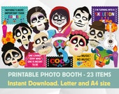 Coco Photo Booth Props Inspirated Printable, Coco Birthday Party, Day of the Dead Party, Halloween Costume