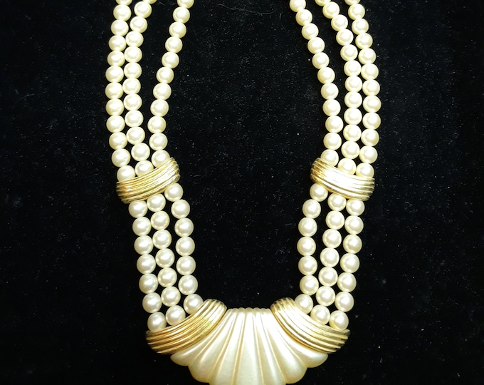 Vintage 1950's Napier multi-strand necklace