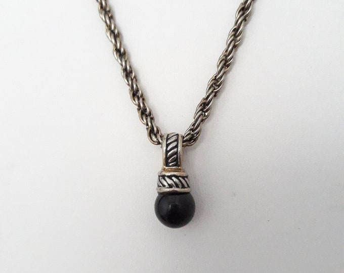 Black pendant necklace, One of a kind handmade unique necklace affordable