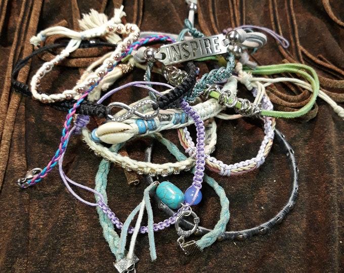 12 pc Craft jewelry bracelet lot, junk jewelry for crafts, repurpose, repair