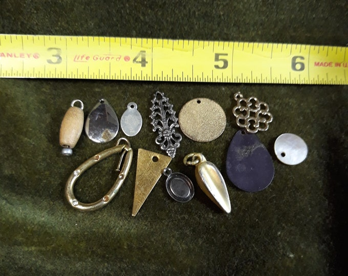 Vintage dangle drop craft lot, 97c Special Value assorted vintage dangles, repurposed jewelry, salvaged jewelry