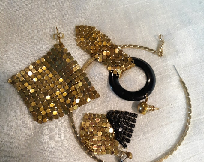 Single earring Vintage craft lot, 97c Special Value, repurposed jewelry, salvaged jewelry