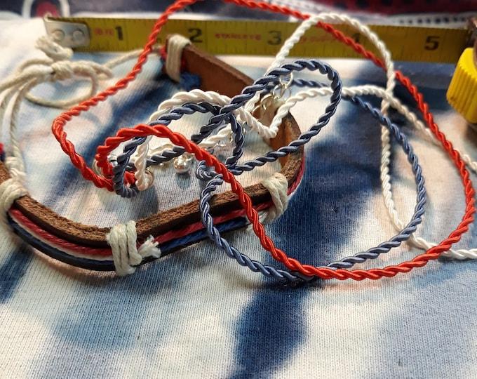 Vintage craft lot, 97c Special Value jewelry lot, repurposed jewelry, salvaged jewelry, patriotic