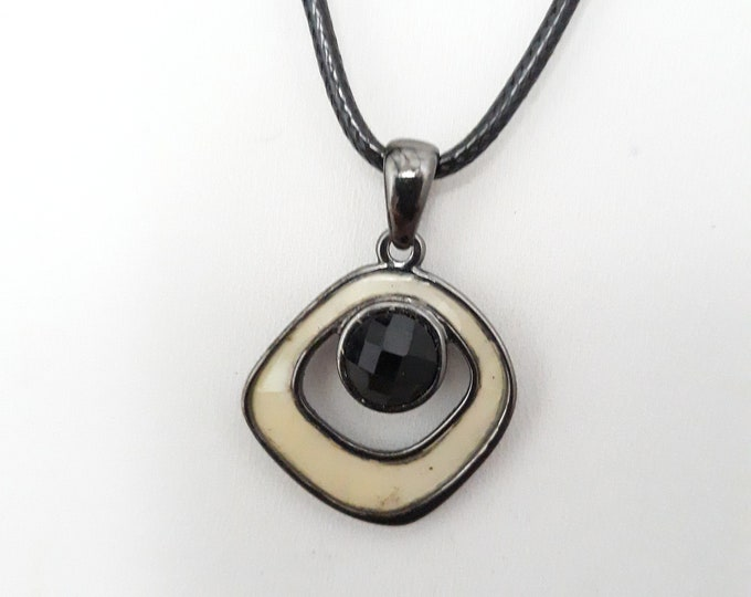 Lia Sophia pendant necklace recycled, One of a kind handmade unique necklace affordable