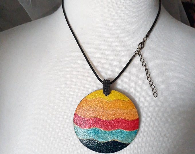 Wood pendant One of a kind handmade unique necklace affordable, under 5, gift exchange