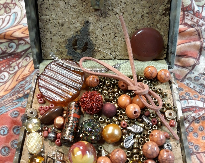 Jesse James Craft kit with vintage beads and  junk jewelry, Vintage jewelry lot, craft lot, repurposed jewelry, salvaged jewelry