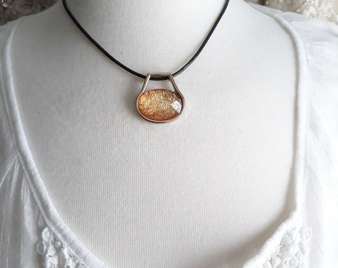 Handmade Boho Hippie slider pendant necklace, One of a kind handmade unique necklace affordable