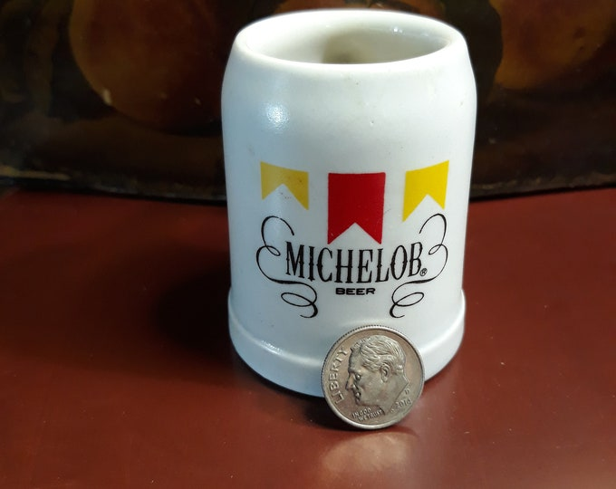 Vintage miniature Michelob beer stein mug Father's Day gift