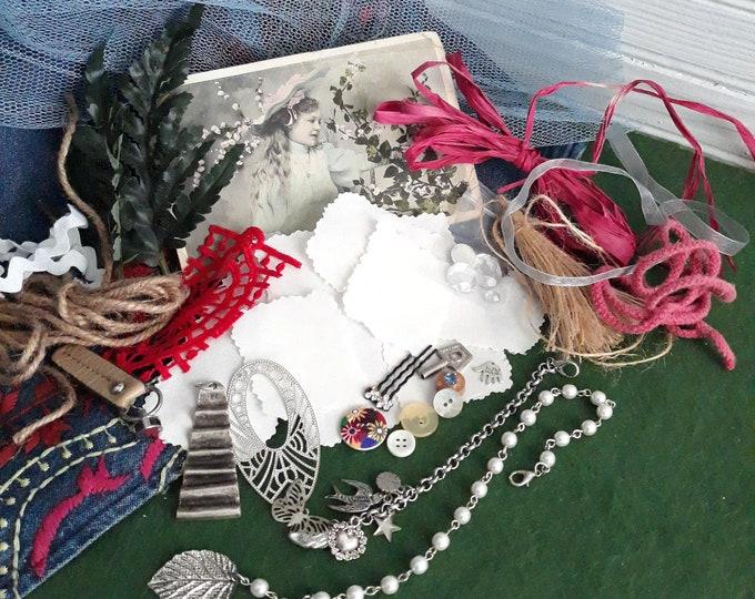 Junk journal craft lot, Junk journal components, Junk journal starter kit