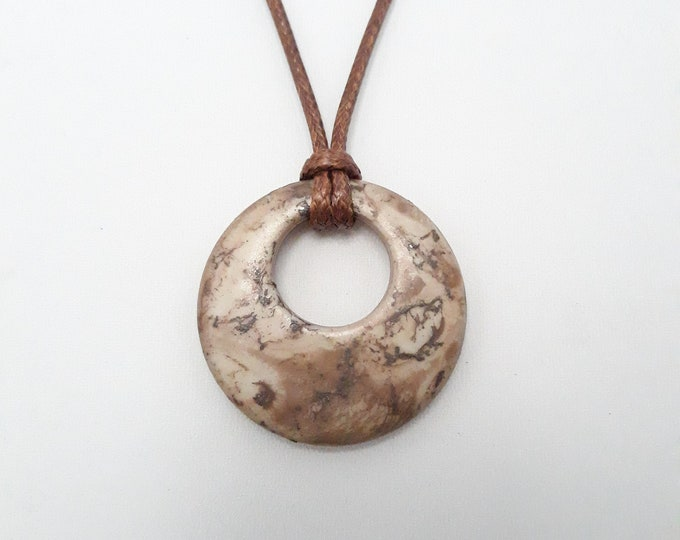 Textured pendant necklace, One of a kind handmade unique necklace affordable