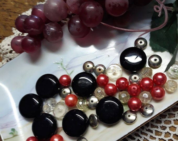 CLEARANCE >>>Glass and acrylic salvaged bead lot