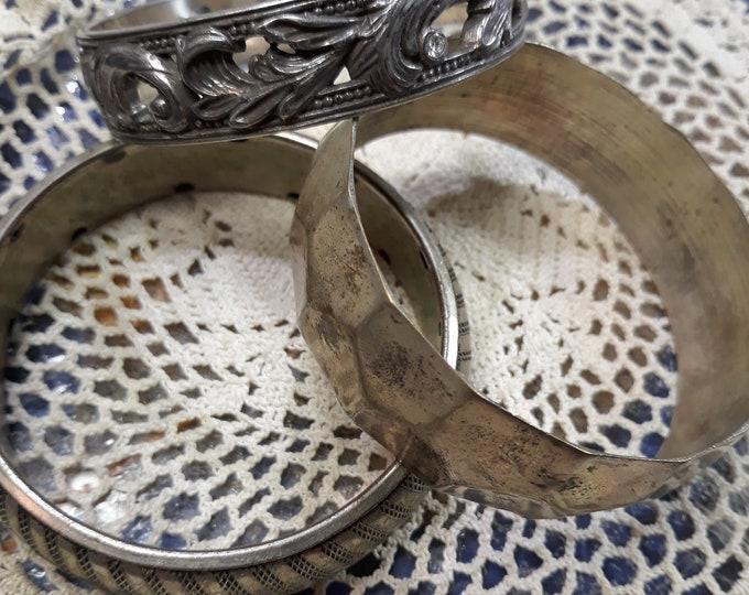 CLEARANCE >>> VINTAGE Bangle bracelt lot, 3 rescued bangle bracelets, craft or wear