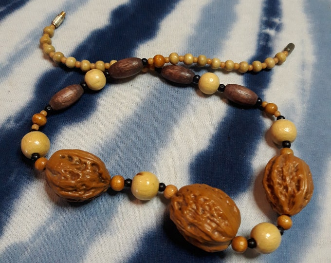 Vintage Hippie beads and seed choker necklace