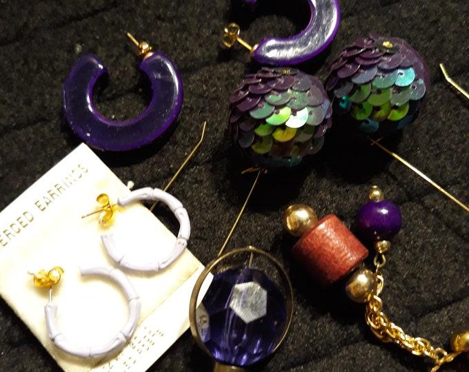 Fun Vintage Craft lot cheap matching earrings for wear repair repurpose, dangle drop earrings