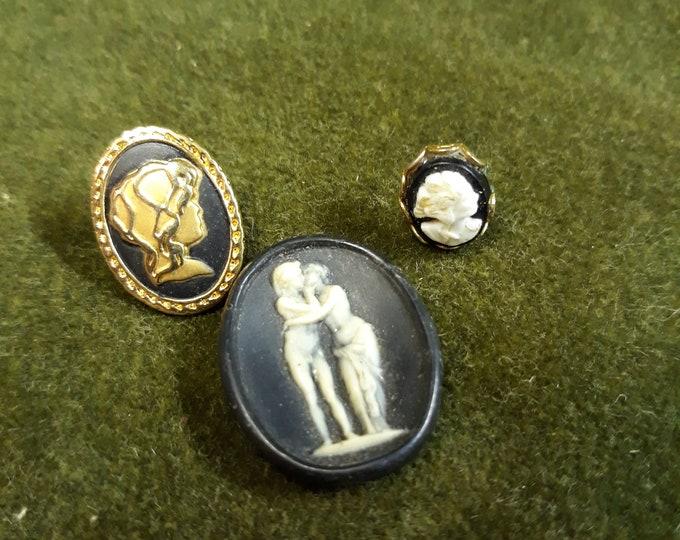 Vintage Cameo jewelry pieces, Salvaged cameos