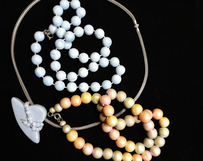 Vintage choker necklace lot