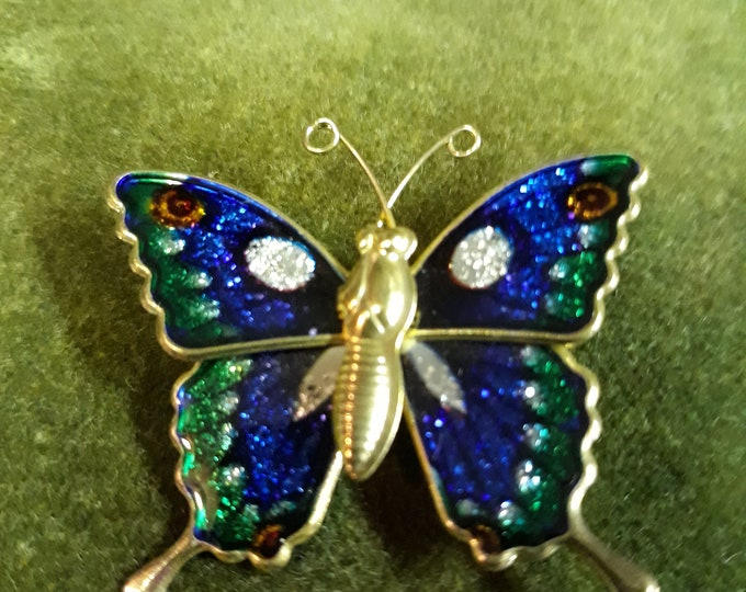 Vintage butterfly brooch, craft jewelry, Repurpose jewelry, Adornments, Brooches for picture frame art, Embellishments, Pins,