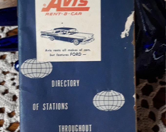 1959 Avis rent-a-car directory tlc ephemera