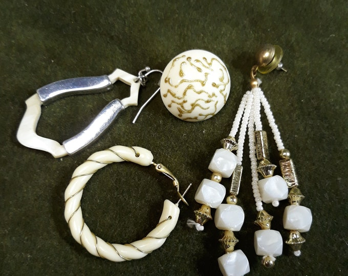 Vintage single earrings for art and crafts, Reuse