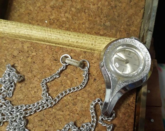 Antique watch pendant by Lucerno , Hong Kong chain