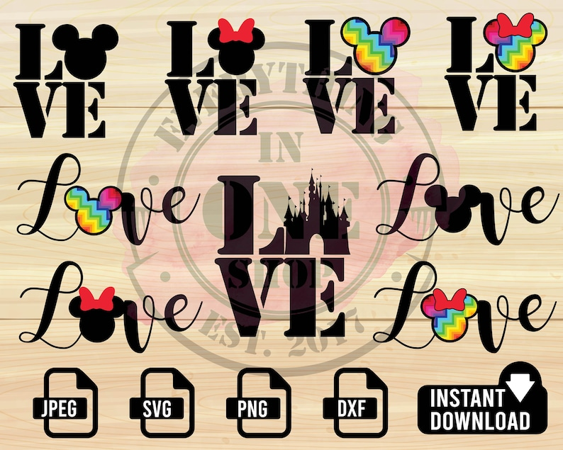 Download DISNEY Love SVG Love Disney svg Love LBGTQ svg Disney | Etsy