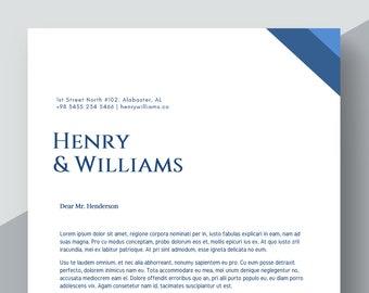 Law Firm Letterhead Template Lawyer Letterhead Legal   Etsy