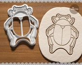 Scarab Beetle. Cookie Cutter. Biscuit Plastic Cutter. Cake Decor. Gift Idea. Candy making. Baking. Stamp. 3D printed.