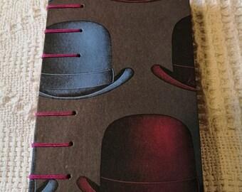 A6 Sketchbook, Bowler Hat Artists Book, Magritte, Bowler hat sketchbook