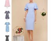 Sewing Pattern Flutter Sleeve Dress Pattern, Sheath Dress Pattern, Evening Dress Pattern, Simplicity Sewing Pattern 8292